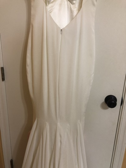 Katie May Ivory Twist Mykonos Front Crepe De Chine Mermaid Gown Modern Wedding Dress Size 8 (M) Image 7