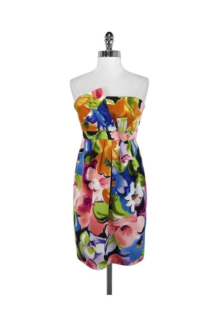 David Meister short dress Floral Silk Strapless on Tradesy Image 0
