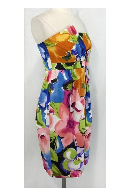 David Meister short dress Floral Silk Strapless on Tradesy Image 1