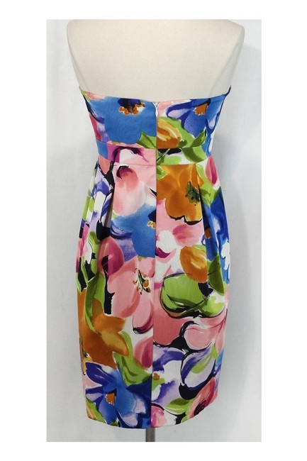 David Meister short dress Floral Silk Strapless on Tradesy Image 2