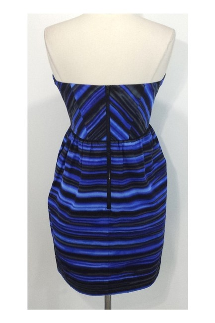 Shoshanna short dress blue Striped Strapless on Tradesy Image 2
