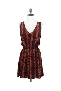 Patterson J. Kincaid short dress red Brown Elastic Waist on Tradesy