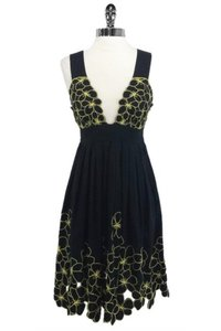 Catherine Malandrino short dress black Yellow Cotton on Tradesy