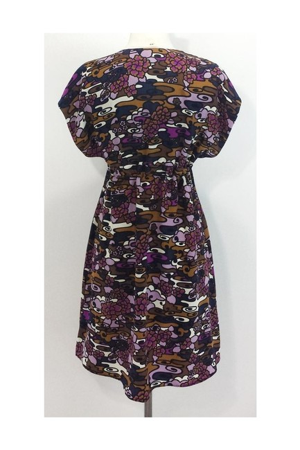 Alice & Trixie short dress purple Deep V Neck Silk on Tradesy Image 2