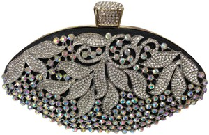 Crystal Collection Evening Rhinestone Black and AB crystal Clutch