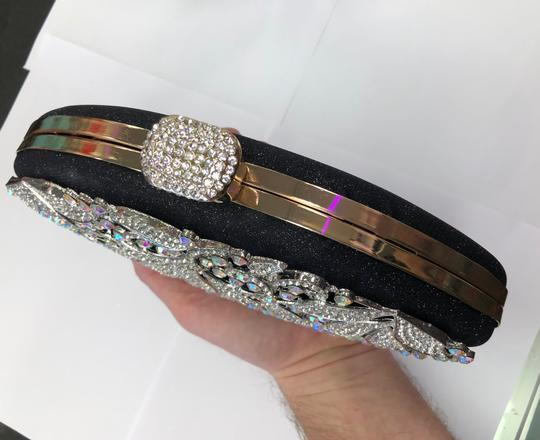 Crystal Collection Evening Rhinestone Black and AB crystal Clutch Image 3