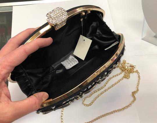 Crystal Collection Evening Rhinestone Black and AB crystal Clutch Image 7