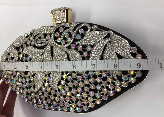 Crystal Collection Evening Rhinestone Black and AB crystal Clutch Image 8