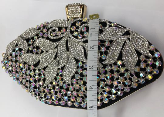 Crystal Collection Evening Rhinestone Black and AB crystal Clutch Image 9