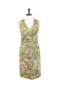 Kay Unger short dress yellow Paisley Print Cotton Sheath on Tradesy