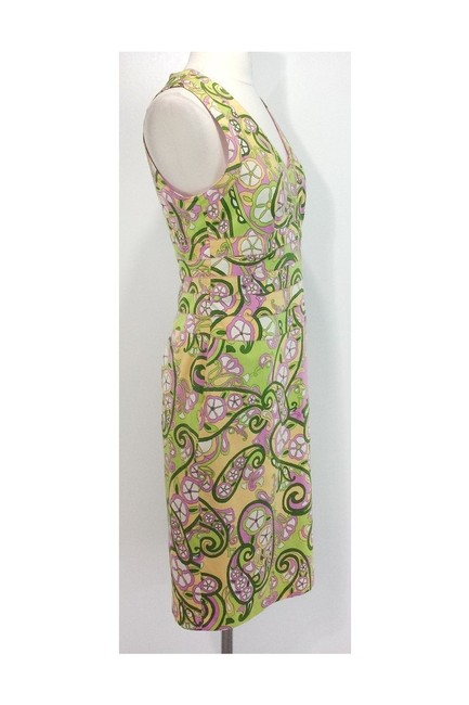 Kay Unger short dress yellow Paisley Print Cotton Sheath on Tradesy Image 1
