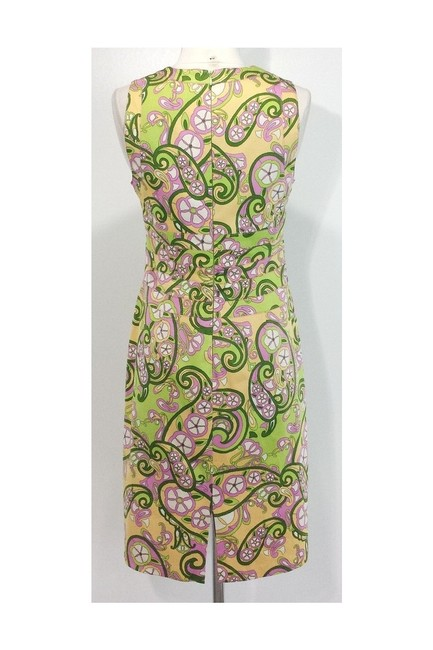Kay Unger short dress yellow Paisley Print Cotton Sheath on Tradesy Image 2