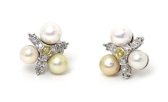 Preload https://img-static.tradesy.com/item/25194754/2698x-diamond-and-pearls-14k-white-gold-floral-stud-earrings-0-0-540-540.jpg