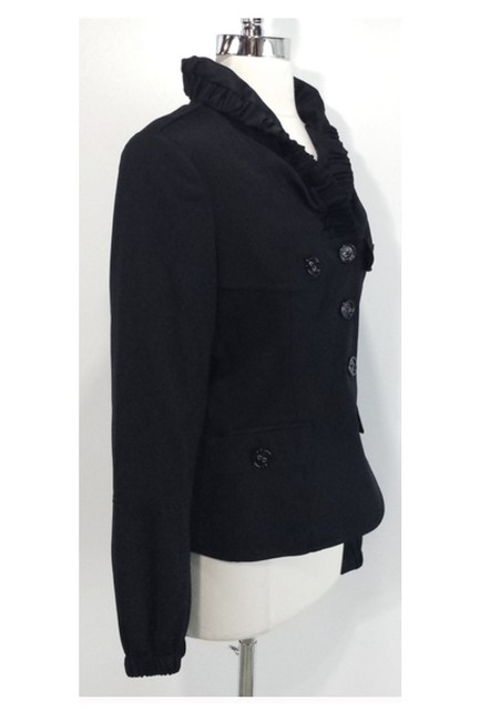 Burberry Ruched Collar Wool black Jacket Image 1