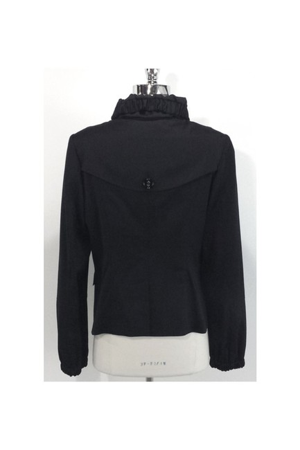 Burberry Ruched Collar Wool black Jacket Image 2