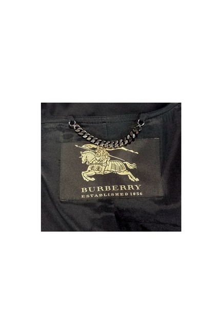 Burberry Ruched Collar Wool black Jacket Image 3