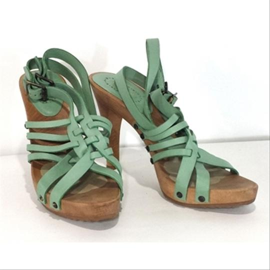 Chloé Leather Wood green Sandals Image 1