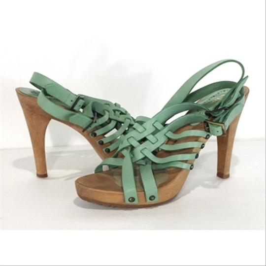 Chloé Leather Wood green Sandals Image 2