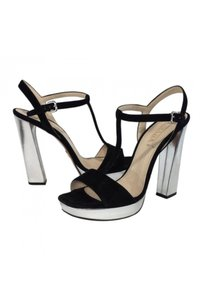 Prada Suede Silver black Pumps