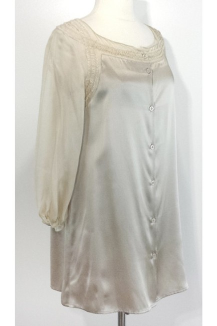 Philosophy Champagne Silk Button Top Image 1