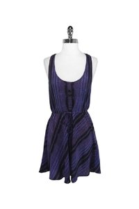 Twelfth St. by Cynthia Vincent short dress purple Street Racer Back Silk on Tradesy