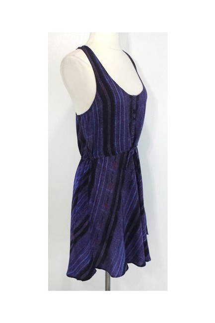 Twelfth St. by Cynthia Vincent short dress purple Street Racer Back Silk on Tradesy Image 1