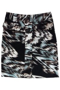 Etcetera Blue Abstract Print Skirt brown