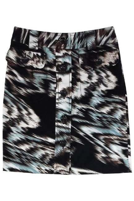 Etcetera Blue Abstract Print Skirt brown Image 0
