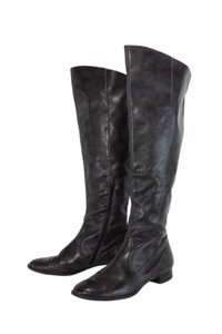 Paul Green Dark Taupe Leather Riding brown Boots