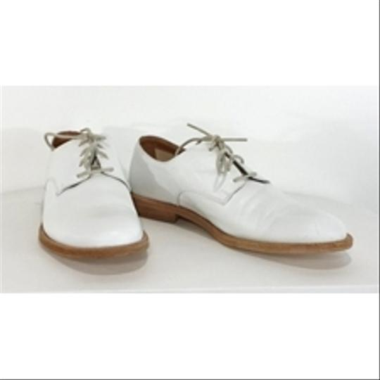 Max Mara Leather Lace Up white Flats Image 1