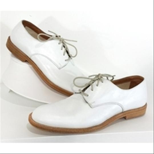 Max Mara Leather Lace Up white Flats Image 3