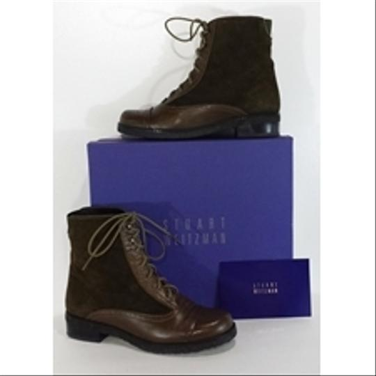 Stuart Weitzman Suede Leather Oxford brown Boots Image 1