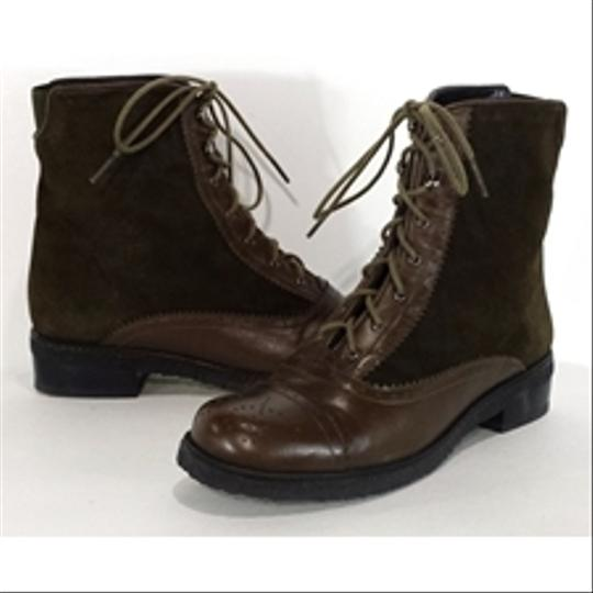 Stuart Weitzman Suede Leather Oxford brown Boots Image 3