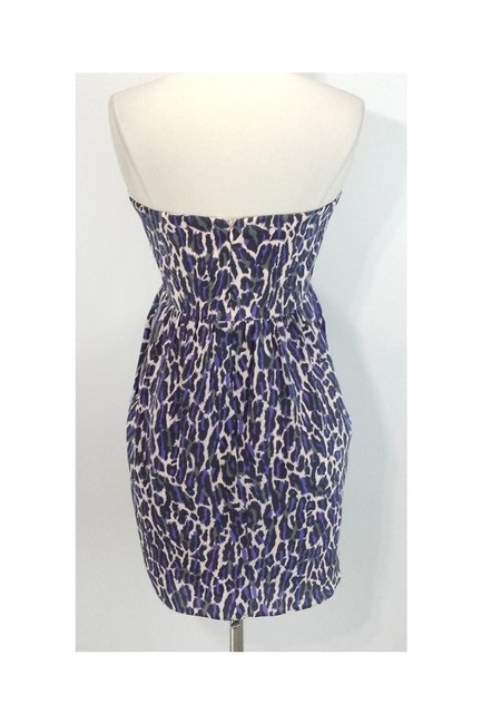 Shoshanna short dress purple Animal Print Strapless on Tradesy Image 2
