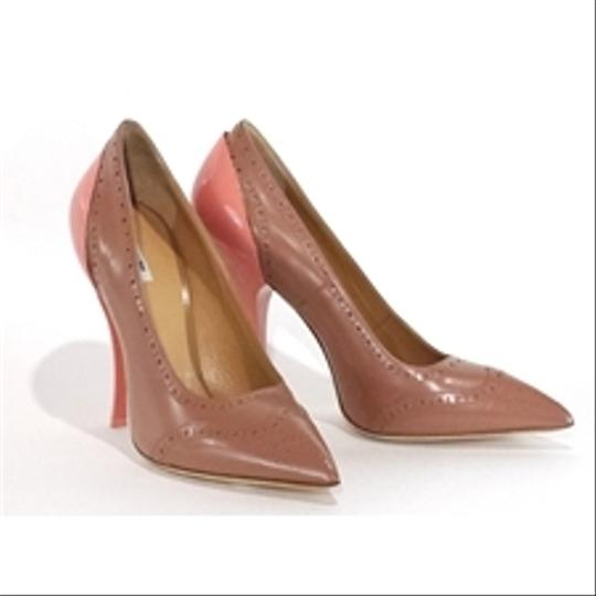 Miu Miu Oxford Leather Coral Pumps Image 1