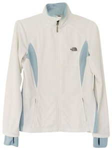 The North Face White and Baby Blue Jacket