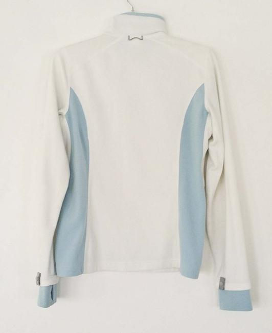 The North Face White and Baby Blue Jacket Image 1