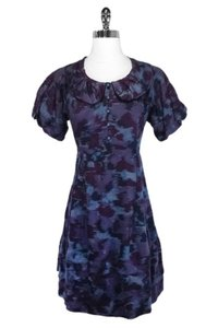 Marc by Marc Jacobs short dress purple Abstract Print Cotton on Tradesy