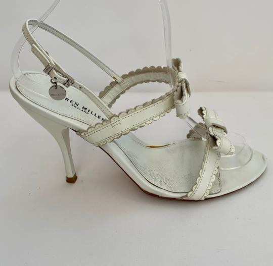 Karen Millen Heels Stiletto Strappy White Sandals Image 1