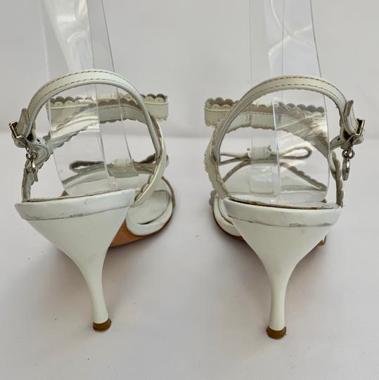 Karen Millen Heels Stiletto Strappy White Sandals Image 3