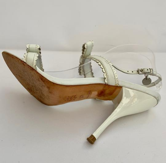 Karen Millen Heels Stiletto Strappy White Sandals Image 4