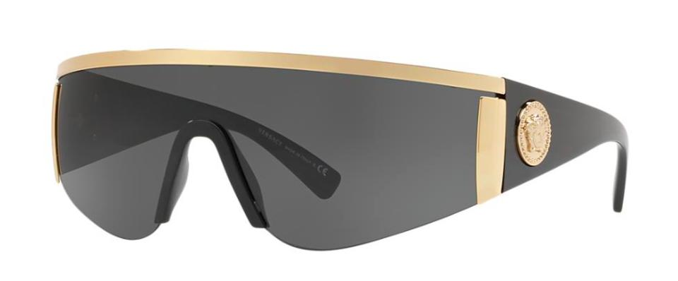 2954b0aca3a3 Versace Gold New Shield Retro Ve 2197 100087 Free 3 Day Shipping Sunglasses