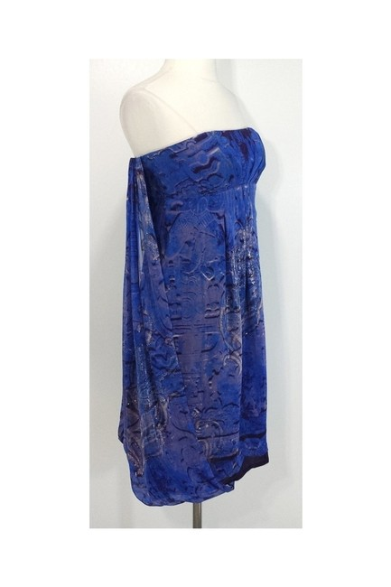 Nicole Miller short dress blue Collection Draped Back Strapless on Tradesy Image 1