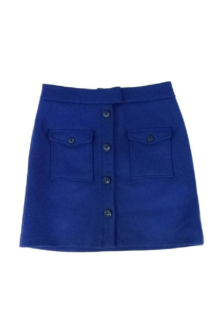 Thakoon Navy Double Pocket Front Wool Skirt blue Image 0
