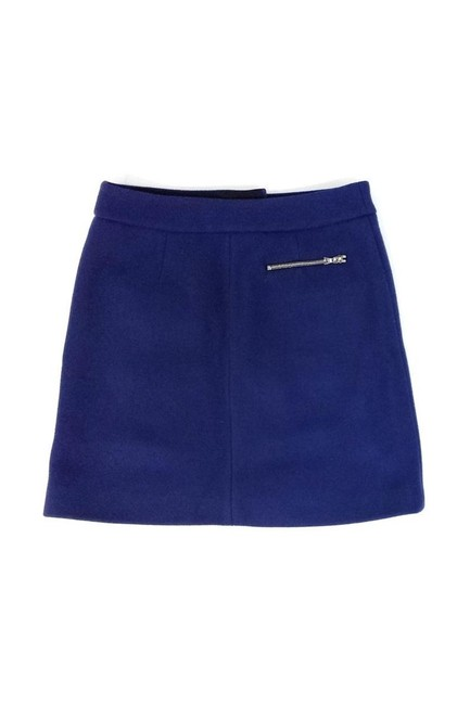 Thakoon Navy Double Pocket Front Wool Skirt blue Image 1