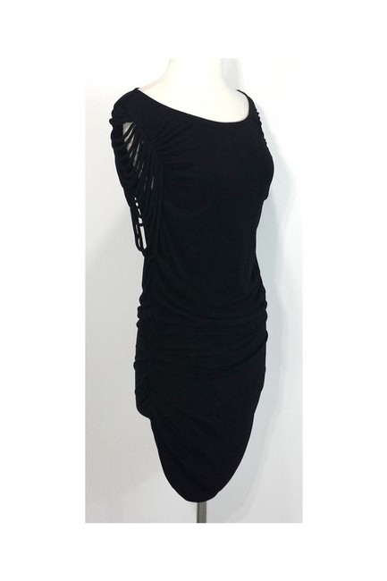 Temperley London short dress black Bodycon Fringe on Tradesy Image 1