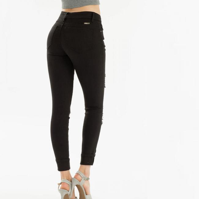 Kancan Cuffed High Rise Button Fly Skinny Jeans Image 3