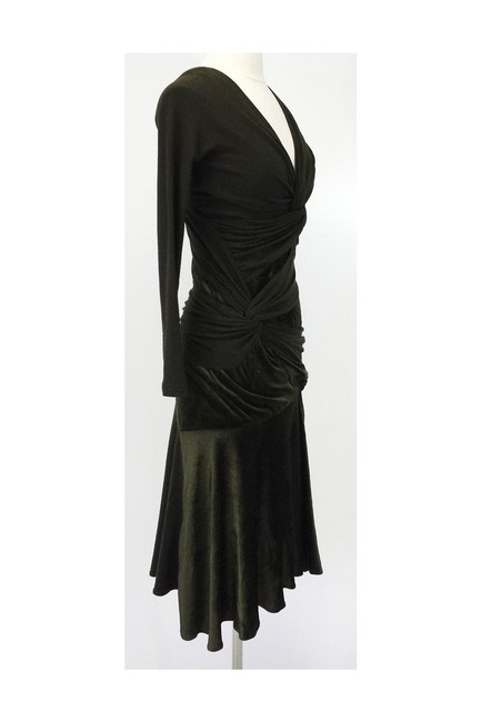 Donna Karan short dress green Olive Velvet Blend Draped on Tradesy Image 1