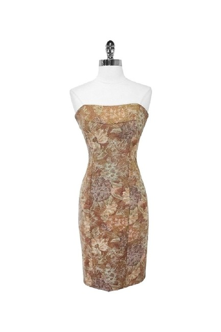 Item - Gold Short Casual Dress Size 4 (S)