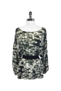 Stella McCartney Muted Silk Tie Waist Top green